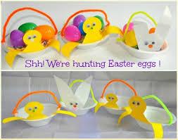 Easter Craft For Kids Chick Bunny Basket