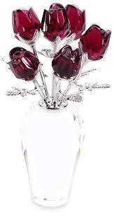 Swarovski Crystal Lamp Finials by Amazon Com Swarovski Crystal Red Roses Home U0026 Kitchen