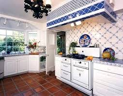 Blue And White Kitchen French Country Decor Ideas With Tiles