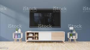 tv auf dem schrank im modernen wohnzimmer auf dunklen wand hintergrund stockfoto und mehr bilder architektur