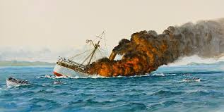 Uss America Sinking Location by 17 Uss America Sinking Pictures Uss Main Sinking Painting