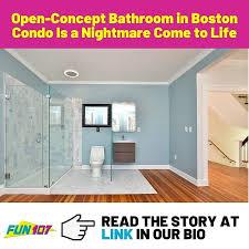 open concept bathroom in boston condo is a nightmare come to