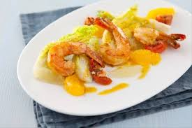 cuisiner les gambas recette de salade de gambas vinaigrette onctueuse orange moutarde