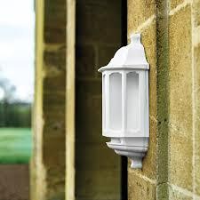 asd led half lantern outdoor wall light with dusk to sensor