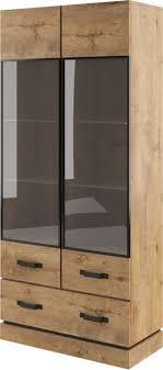 Holly Rustic Wood Standard Display Cabinet