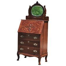 Drop Front Secretary Desk Antique by Antique Ladies Drop Front Mirrored Secretary Desk Scranton Antiques