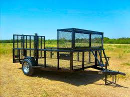 6 X 12 Pipe Top Single Axle Landscape Trailer