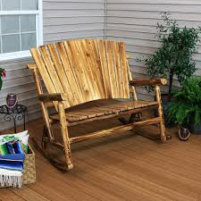 Sunnydaze Decor Rustic Fir Wood Log Cabin Patio Rocking Loveseat With Fan  Back Design, 2-Person 500 Lbs. Capacity Sunnydaze Toddler Modern Wooden Rocking Chair With Nontoxic Paint Finish Fits Most Children Under 3 Feet Tall Brown Beacon Park Wicker Outdoor Ding Orange Cushion Pond Themed Hand Painted Rocking Chair For Baby Twin Rumi Vintage Doll Hand Painted Tole Flowers Wood Gold Red Rush Seat 1970s Ladder Back In Leith Walk Edinburgh Gumtree Grey Shabby Chic Removable Orange Cushions Barry Vale Of Glamorgan Are You Sitting Comfortably Traformations Buy Made Childs Custom Colors And Decor Rustic Fir Log Cabin Patio Loveseat Fan Back Design 2person 500 Lbs Capacity Rocker And Distressed F Charlottes Locks