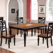5 Piece Dining Set Black And Wood