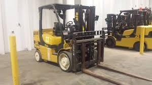 100 Yale Lift Trucks 15000 LB YALE MODEL GDC155VXNCJV087 DIESEL POWER CUSHION TIRE LIFT