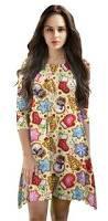 amazon com cute print crewneck shift tunic dress and skirt for