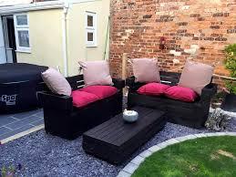 Black Smoky Color Gorgeous Pallet Garden Seating Set