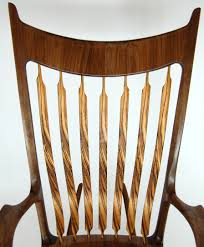 Maloof Rocking Chair Joints by Zebrawood And Walnut Rocking Chair Finewoodworking