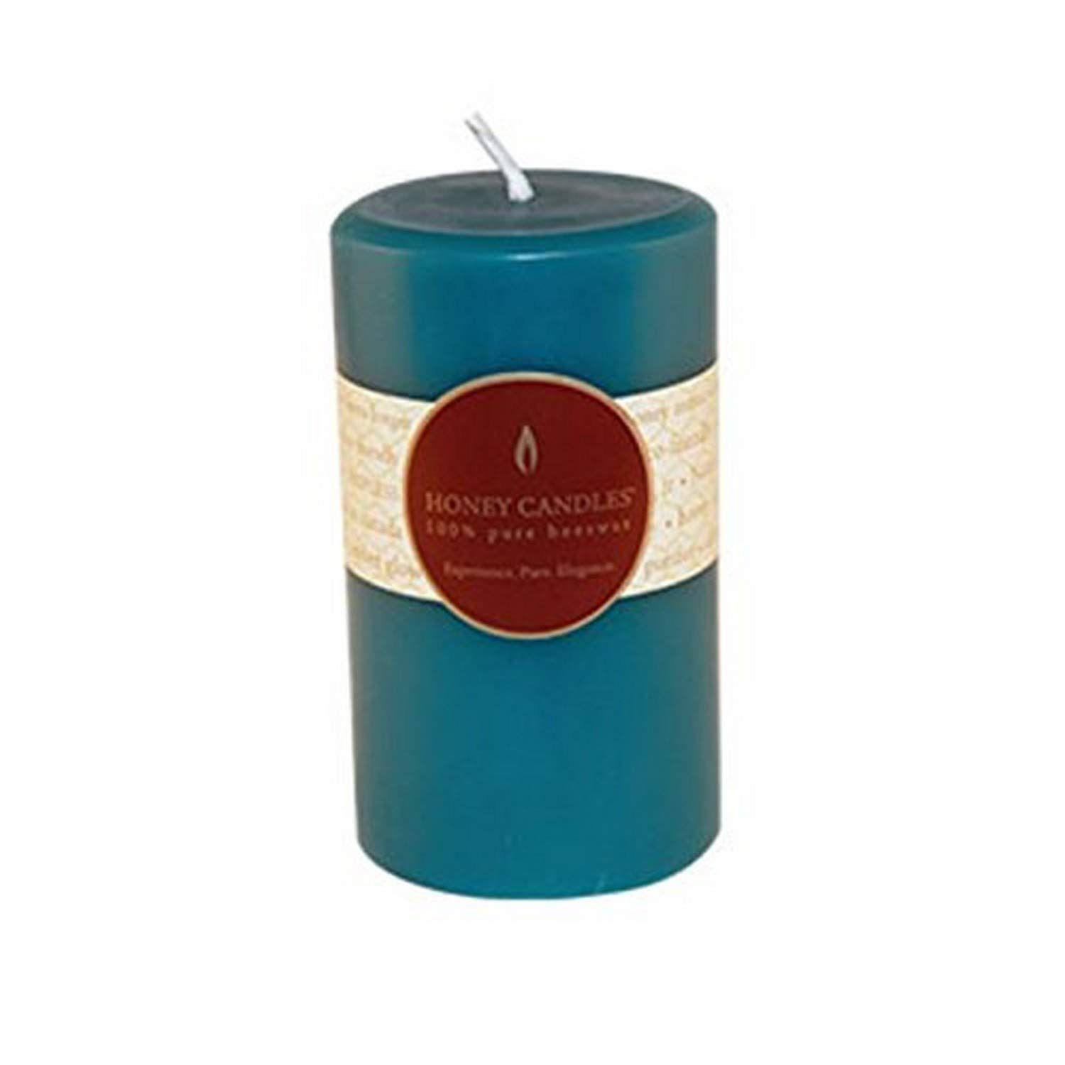Honey Candles Pure Beeswax 5'' Pillar-Glacier Teal