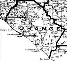 Small Map Of Orange County 1928