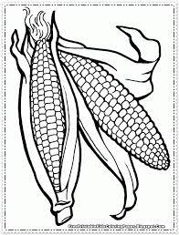 Corn Cob Coloring Page