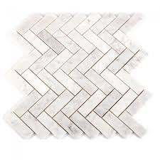 decorator carrara marble white herringbone polished wall tile