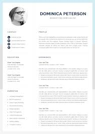 Modern Resume Template   Creative CV With Photo   1, 2 Page ... Resume Template Alexandra Carr 17 Ways To Make Your Fit On One Page Findspark Sample Resume Format For Fresh Graduates Onepage The Difference Between A And Curriculum Vitae Best Free Creative Templates Of 2019 Guide Two Format Examples 018 11 Or How Many Pages Should Be A Powerful One Page Example You Can Use Write Killer Software Eeering Rsum Onepage 15 Download Use Now