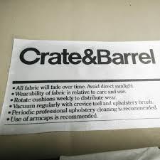72 off crate and barrel crate barrel axis ii seat sofa sofas