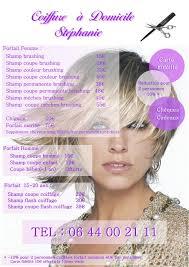 coiffure à domicile stéphanie tarifs