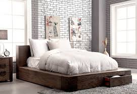Rustic Bed Frame With Storage Style Ideas