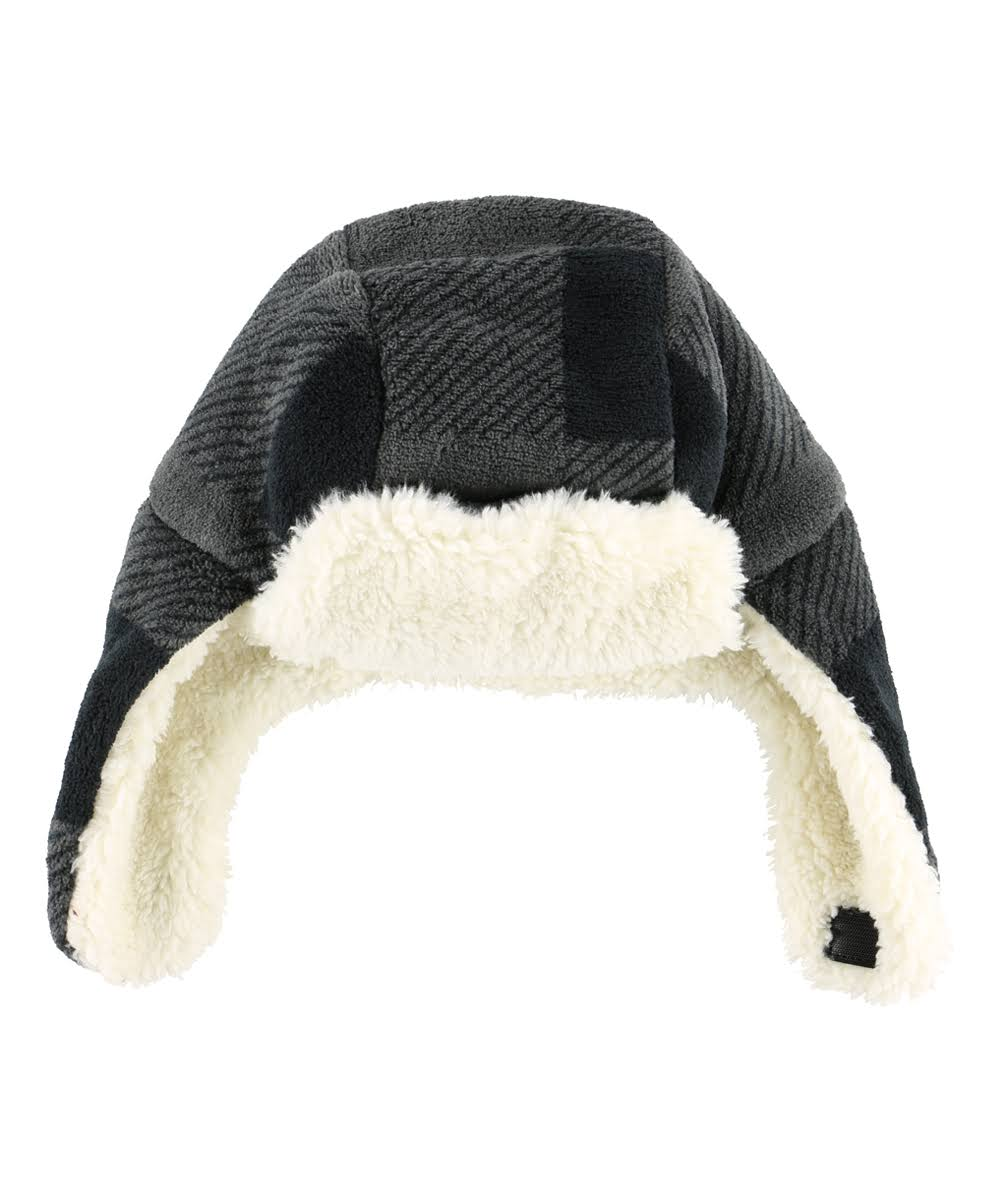Lazy One Kid's Gray & Black Buffalo Check Trapper Hat Medium (Toddler)