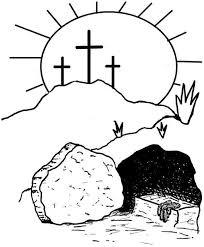 religious easter clip art black and white christian easter black