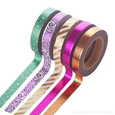 Ruikey 5Pcs Colour Paper Adhesive Tape Set Craft Decorative Sticky