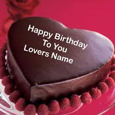 Happy Bday Wishes For Lover With Cake