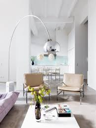 Arc Floor Lamp Crate And Barrel by Lighting Ideas Brass Arc Floor Lamps Over Cream Fur Rug And White