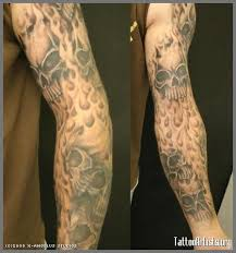 Flame And Skullsleeve Free Handed