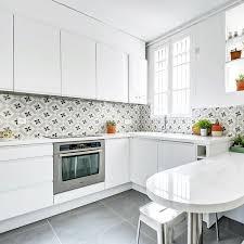 cuisine cr ence cuisine crédence en carreaux de ciment côté maison