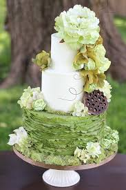 Gold Black Decor Beautiful Wedding Cakes Missouri Ruffles Green Tree Rustic
