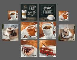 details zu glasbilder deko wand bild deco glass float glas kaffee cafe kuchen küche bar