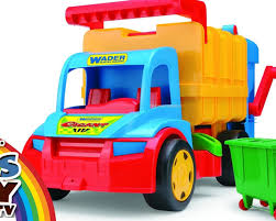 BIG Garbage Truck. WADER. Toy For Boy. ☺123abc Kids Toy TV YouTube ...