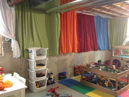 Unfinished Basement Ceiling Paint Ideas by Brighten Up An Unfinished Basement Playroom With 4 Twin Flat