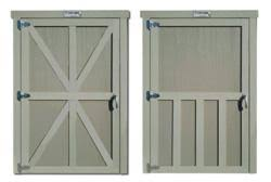 tuff shed introduces new decorative door trim options