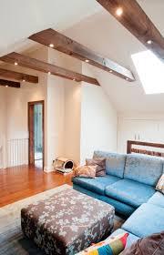 spots im balken wohnung wohnzimmer modern deckenarchitektur