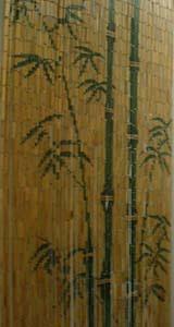 bamboo beaded door curtain natural green bamboos architecture