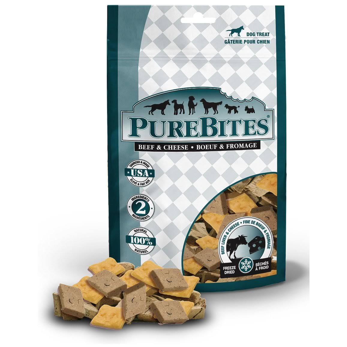 Purebites Dog Treats - Beef & Cheese