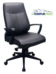 eurotech eur tp300 tempur pedic leather highback office chair