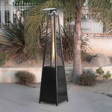 Pyramid Patio Heater Glass Tube by Deluxe Outdoor Pyramid Propane Glass Tube Dancing Flames Patio