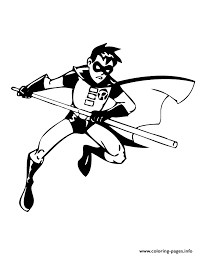 Batman Robin Coloring Pages Print Download
