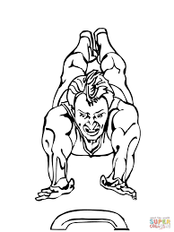Click The Vault Artistic Gymnastics Coloring Pages To View Printable
