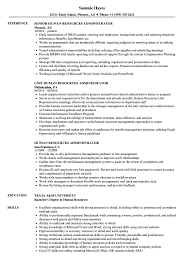 Human Resources Administrator Resume Samples | Velvet Jobs