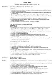 Human Resources Administrator Resume Samples | Velvet Jobs