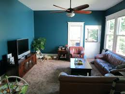 yellow and teal living room home design