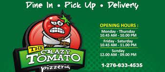 El Patio Bluefield Va Menu by The Crazy Tomato Home Bluefield Virginia Menu Prices