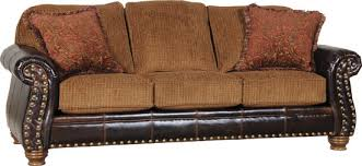 Mayo Leather And Fabric Sofas