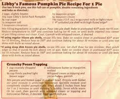 Libby Pumpkin Bread Recipe With Kit by Libby Pumpkin Pie Mix Ingredients